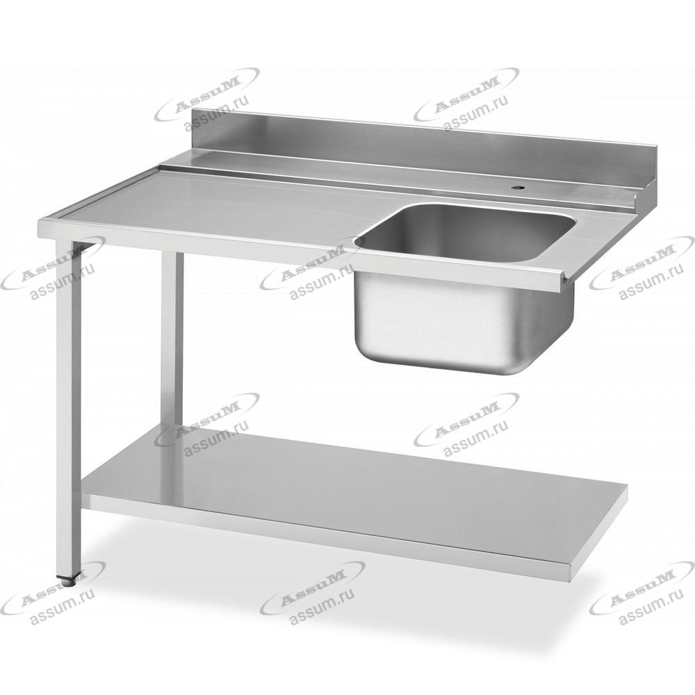 Стол с мойкой для посудомоечных машин купольного типа, соединение слева WT51200SL