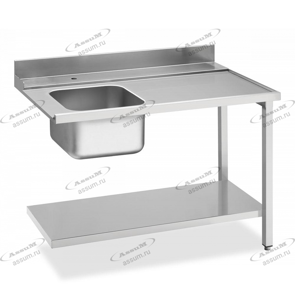 Стол с мойкой для посудомоечных машин купольного типа, соединение справа WT51200SR