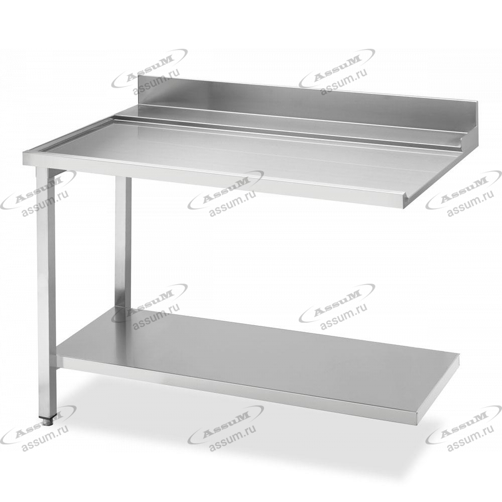 Стол простой (выходной) 1200 для посудомоечных машин купольного типа, соединение слева WTX51200L