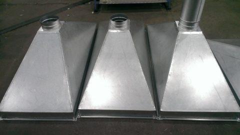 зонт вентиляционный прямоугольный из оцинкованной стали