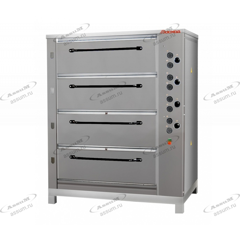 Хлебопекарная ярусная печь ХПЭ-750/4 (нержавеющие облицовка и дверки)