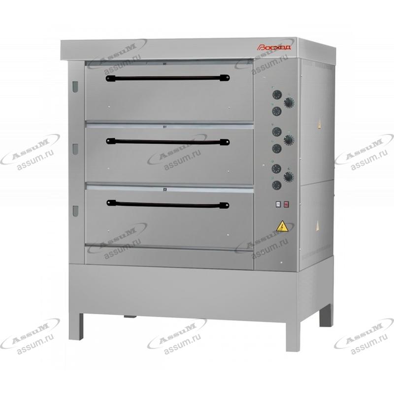 Хлебопекарная ярусная печь ХПЭ-750/3 (нержавеющие облицовка и дверки)